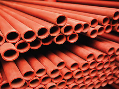 Red Heavy Steel Tube Plain Ends