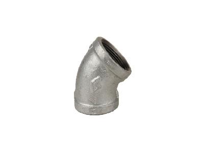 Malleable Iron 120 Elbows, 45 Degree – Galvanised