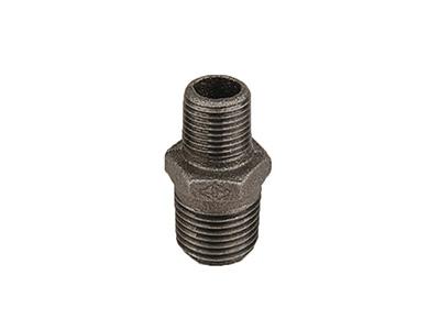 Malleable Iron 245 Reducing Hexagon Nipples – Black