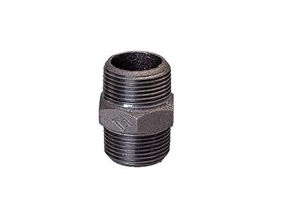 Malleable Iron 280 Hexagon Nipples – Black