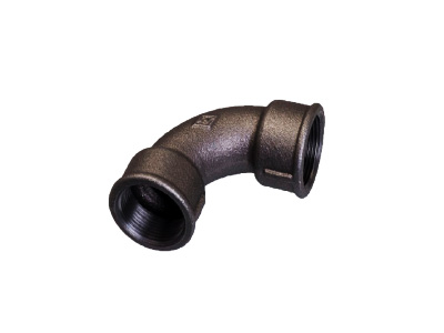 Malleable Iron 2A F/F Short Bends – Black