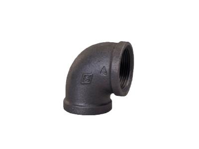 Malleable Iron 90 Elbows, 90 Degree – Black