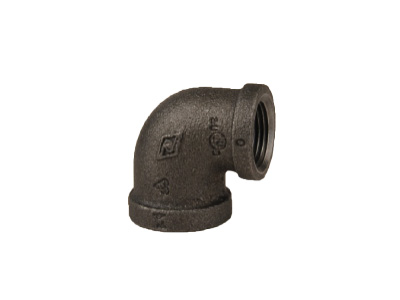Malleable Iron 90R Reducing Elbows, 90 Degree – Black