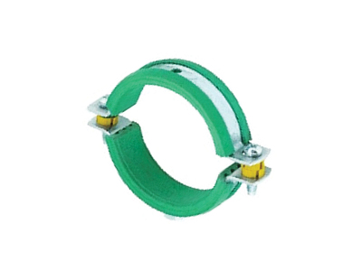 Green Lined Pipe Clips
