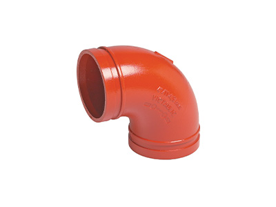 Victaulic No.10 90° Elbows – Red/Orange