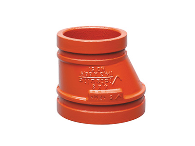Victaulic No. 51 Eccentric Reducers, Red/Orange