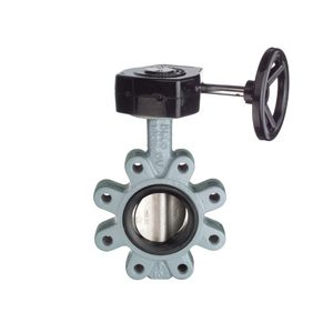 SG Iron Wafer Butterfly Valves, PN16, Nitrile ST ST Disc, Gear Operated