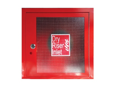 Red Dry Riser 4-Way Inlet Cabinet