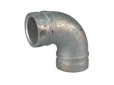100mm Victaulic Grooved 90° Elbow Long – Galvanised
