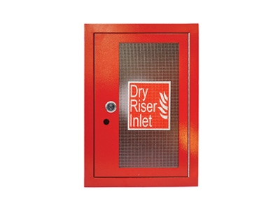 Red Dry Riser Vertical Inlet Architrave & Door