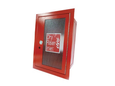 Red Dry Riser Vertical Outlet Cabinet