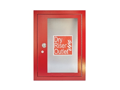 Red Dry Riser Vertical Outlet Architrave & Door