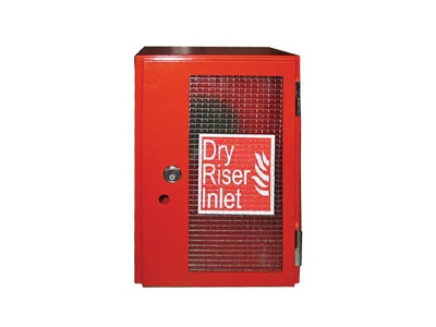 Red Dry Riser Vertical Surface Mounted Inlet Cabinet