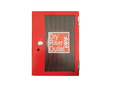 Red Dry Riser Vertical Surface Mounted Outlet Cabinet