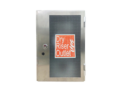 Stainless Steel Dry Riser Vertical Surface Mounted Outlet Fire Cabinet