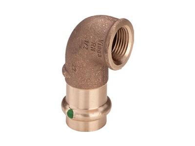 Viega Sanpress Adapter elbow 90° with SC-Contur