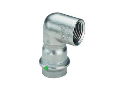 Viega Sanpress Inox Adapter elbow 90° with SC-Contur