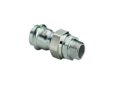 Viega Sanpress Inox Adapter union with SC-Contur