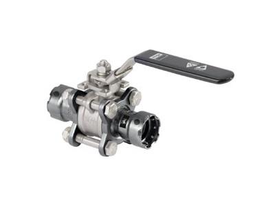 Viega Easytop Ball valve Megapress press connections 3-part